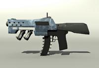 maya scifi rifle