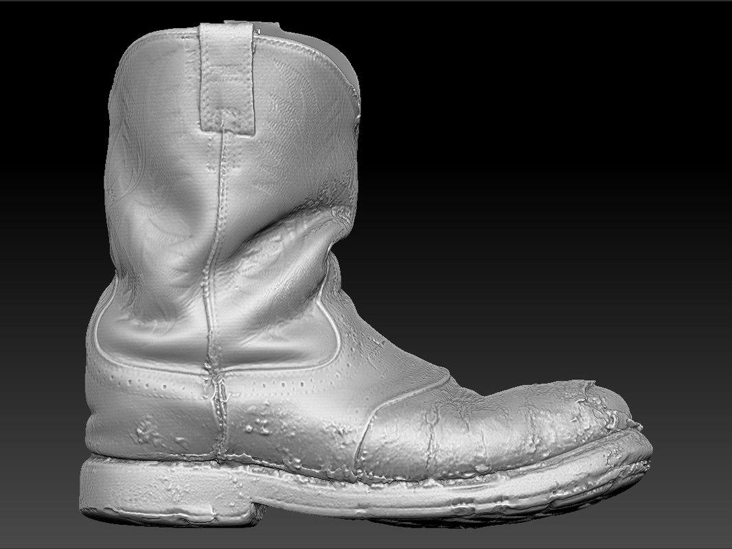 3d scan ariat boot