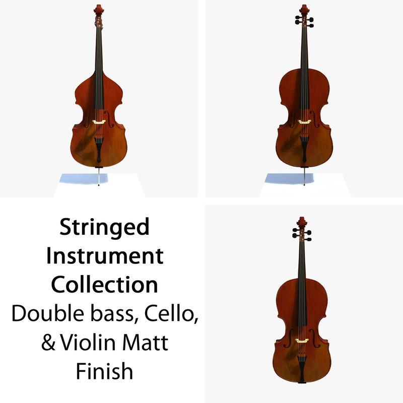 3d model matt musical instruments