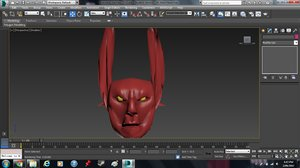 3d model of basic alien head