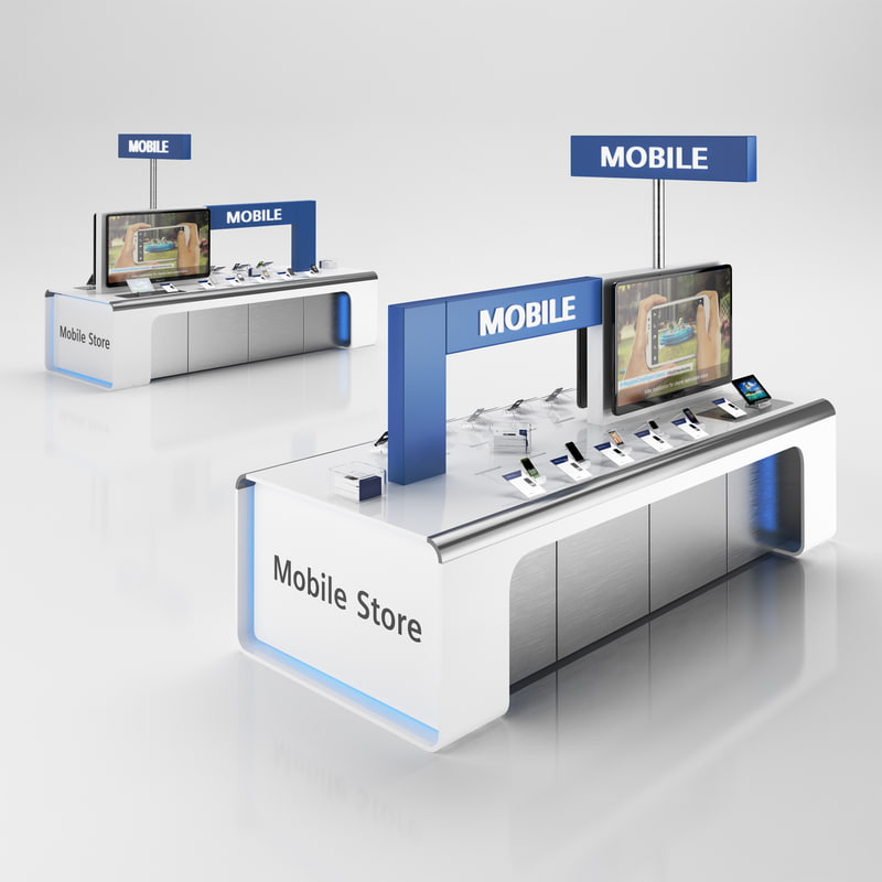 3dsmax cellular sale stand