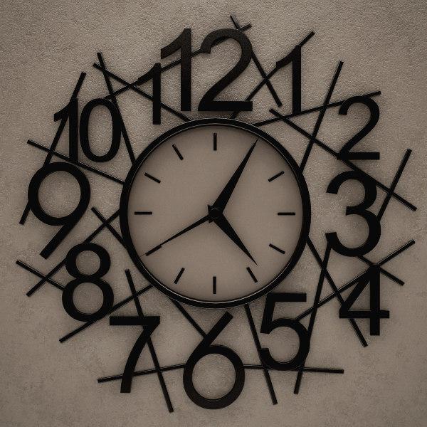 wall clock 3d 3ds