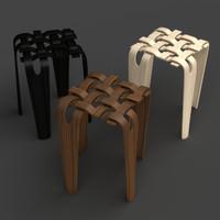 weave stool 3d model