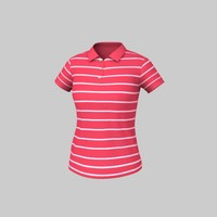 Women Striped Polo