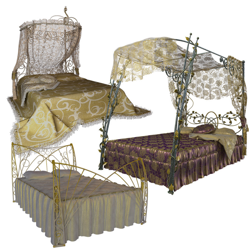 3d model forged beds