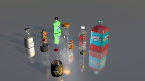 c4d bottle glass