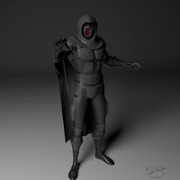 3d model rigged assassin