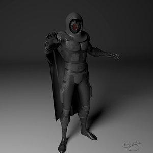 3d model rigged assassin