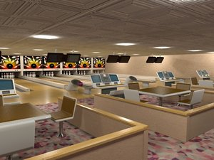 bowling ally 3d model