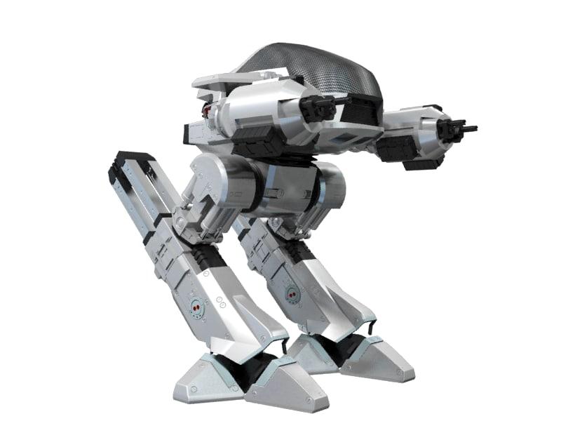 robot ed209 3d model