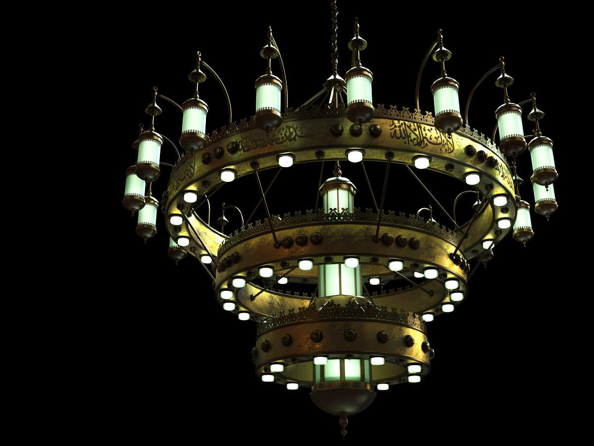 arabian chandelier lights 3d model