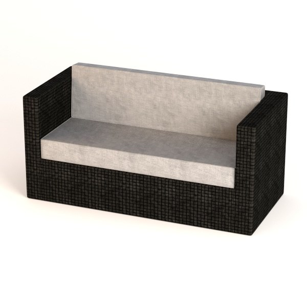 garden furniture sofa 3d 3ds