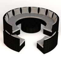 3d garden furniture set model