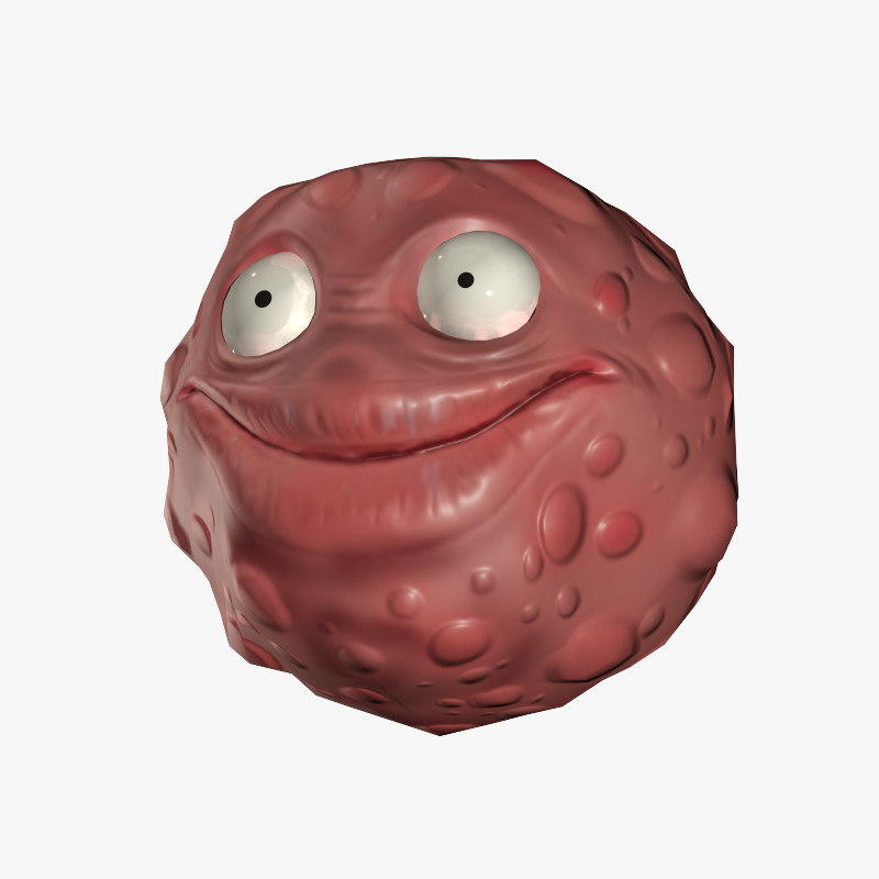 free character virus bacteria herpes 3d model