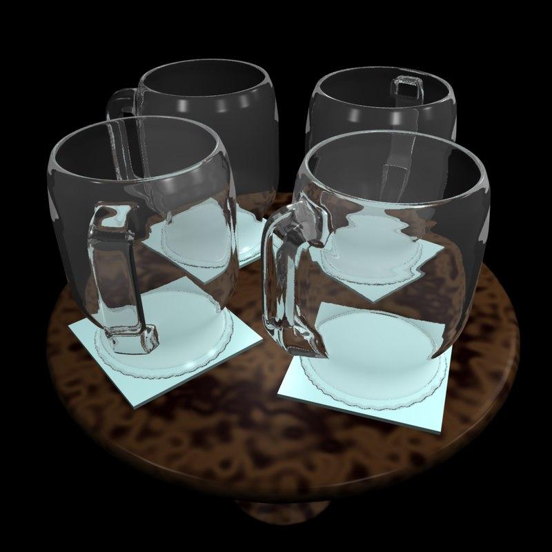 3ds uv realistic glass mug