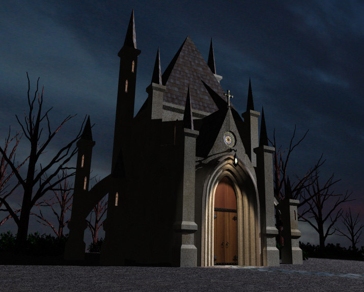 Lightwave Gothic Church