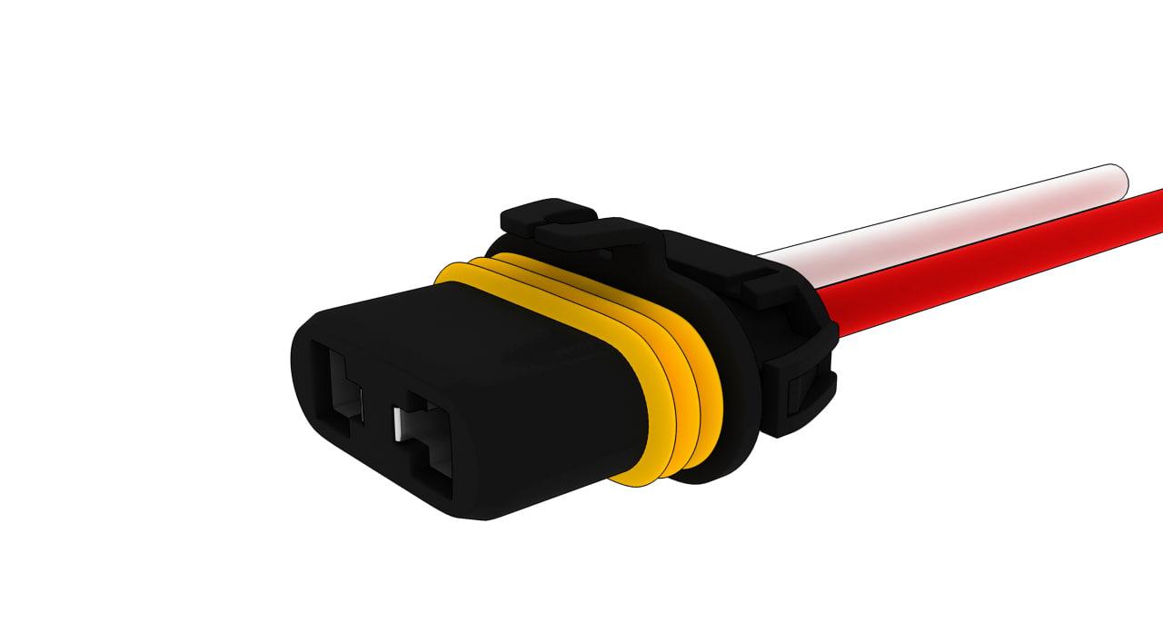 3d 9006f connector model