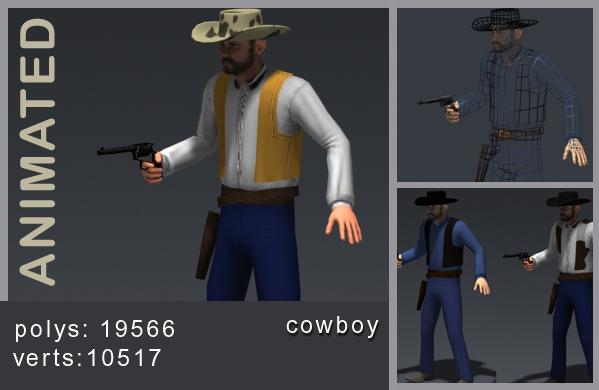 3d cowboy