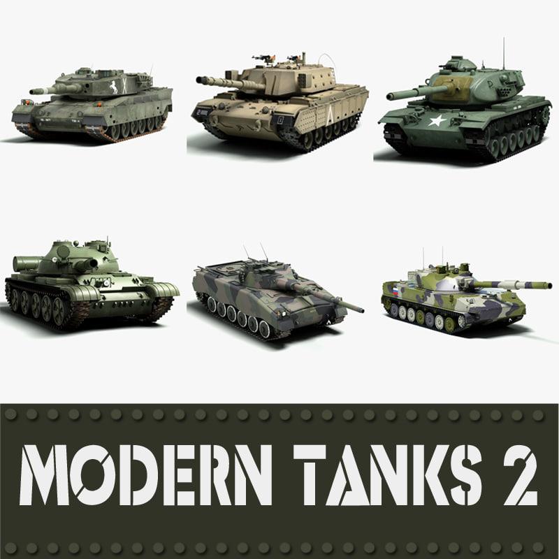3d max modern tanks