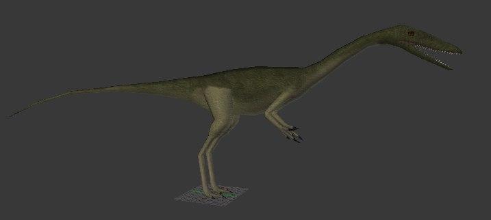 coelophysis triassic dinosaur 3d 3ds