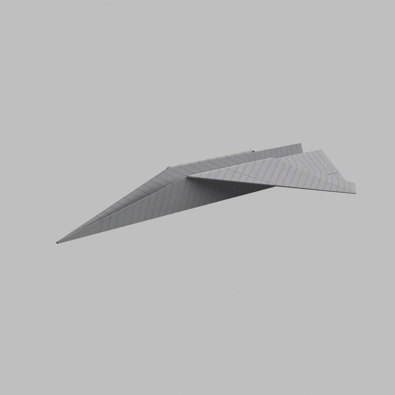 paper airplane obj