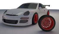 3d model porsche car