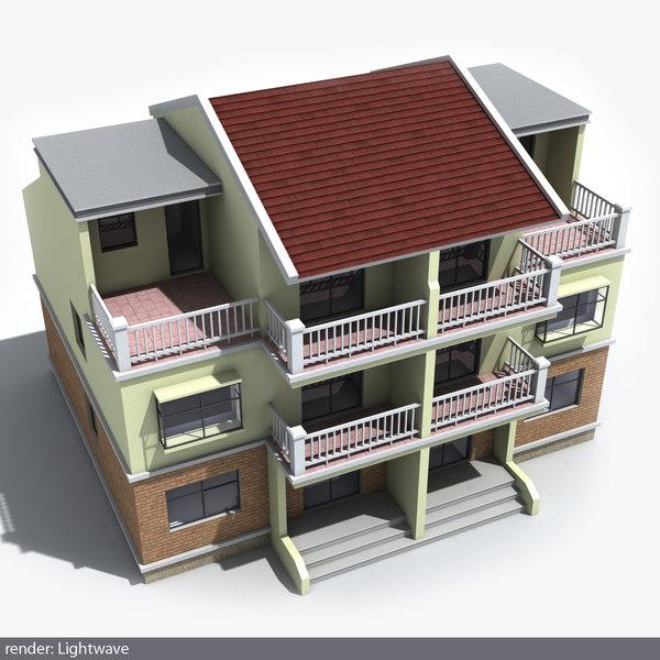 3d residential house 03 model