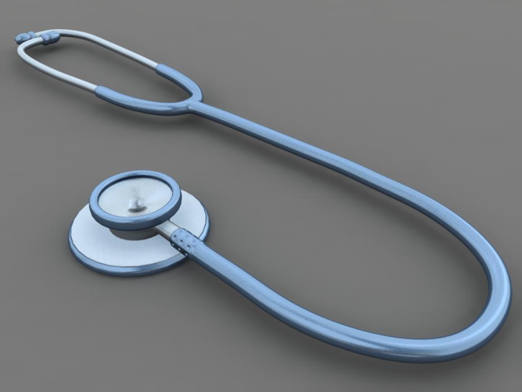 medical stethoscope 3d model