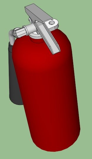 3d model co2 extinguisher fires