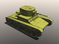 3d 3ds light soviet tank t-26