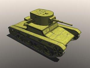 3d 3ds light soviet tank t-26