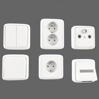 interior electrical outlets 3d model