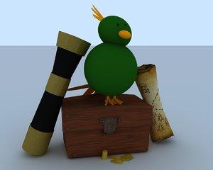 3d model pirate treasure