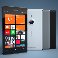 nokia lumia 925 smartphone 3d model