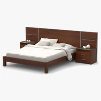 3ds max bed cherry wood