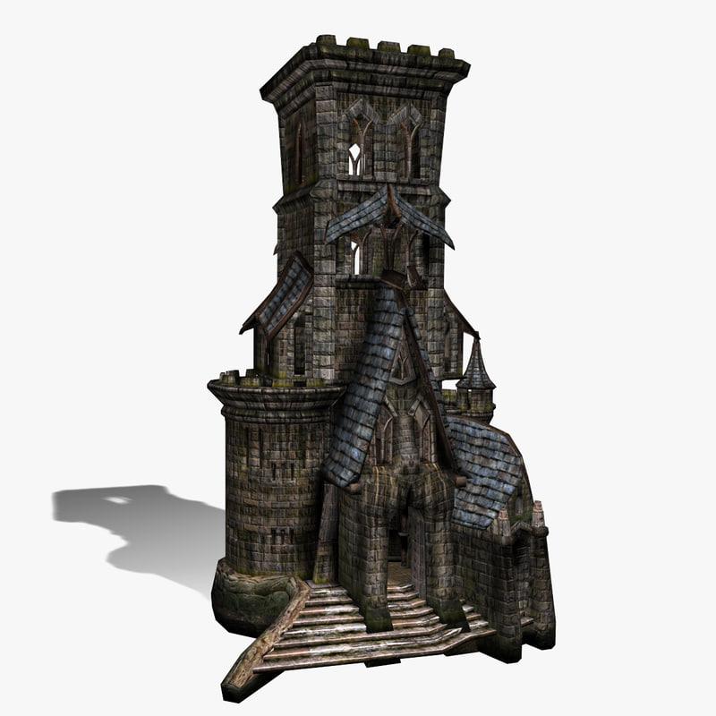 fantasy castle nawie 3d model