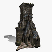 fantasy castle nawie 3d model