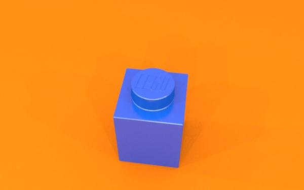 3d 1x1 lego block model