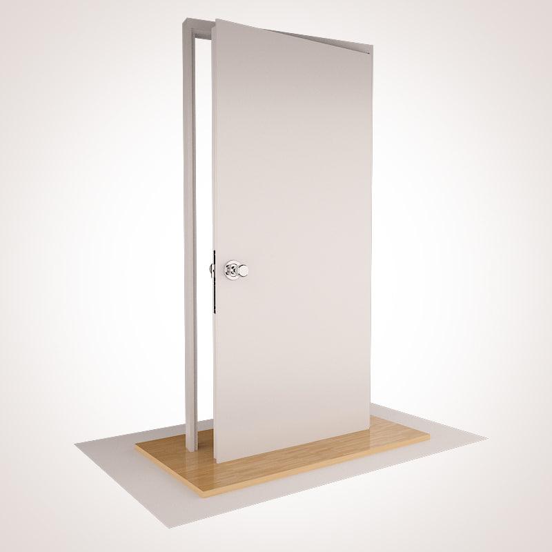Free max model residential door hinge for Door 3d model