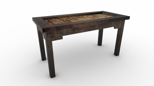 free coffee table ethnic 3d model