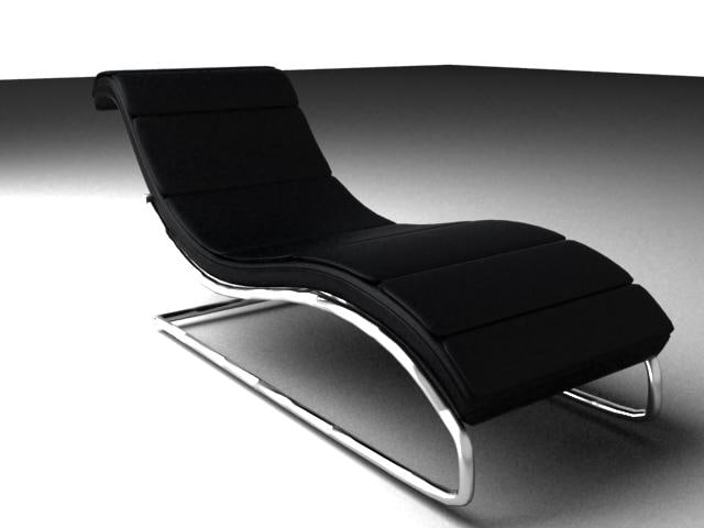 Curved lounge chair 3d 3ds for Curved lounge