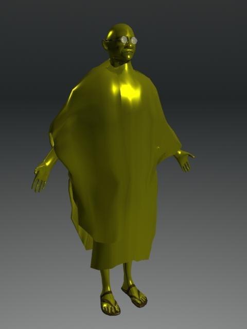 statue gandhi 3d x