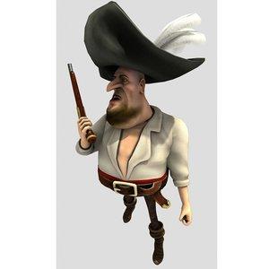 pirat flint 3d model