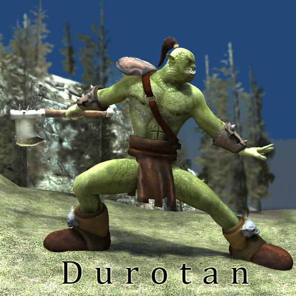 orc character poser fantasy 3d model