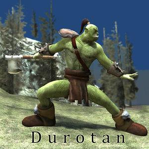 orc character poser fantasy 3d model