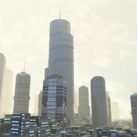 3d futuristic building