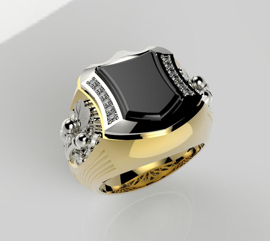 3d stone ring model