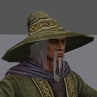 wizard fantasy 3d model