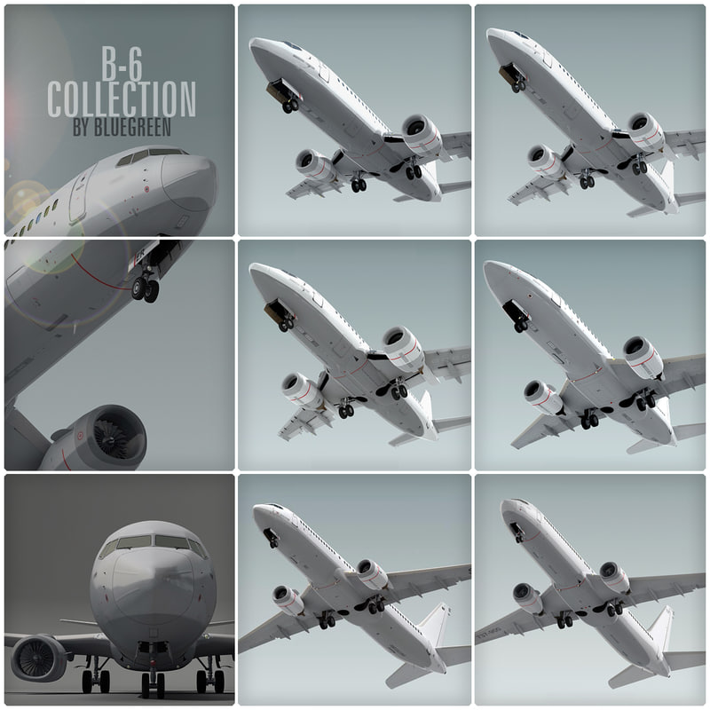 3d boeing 737 planes