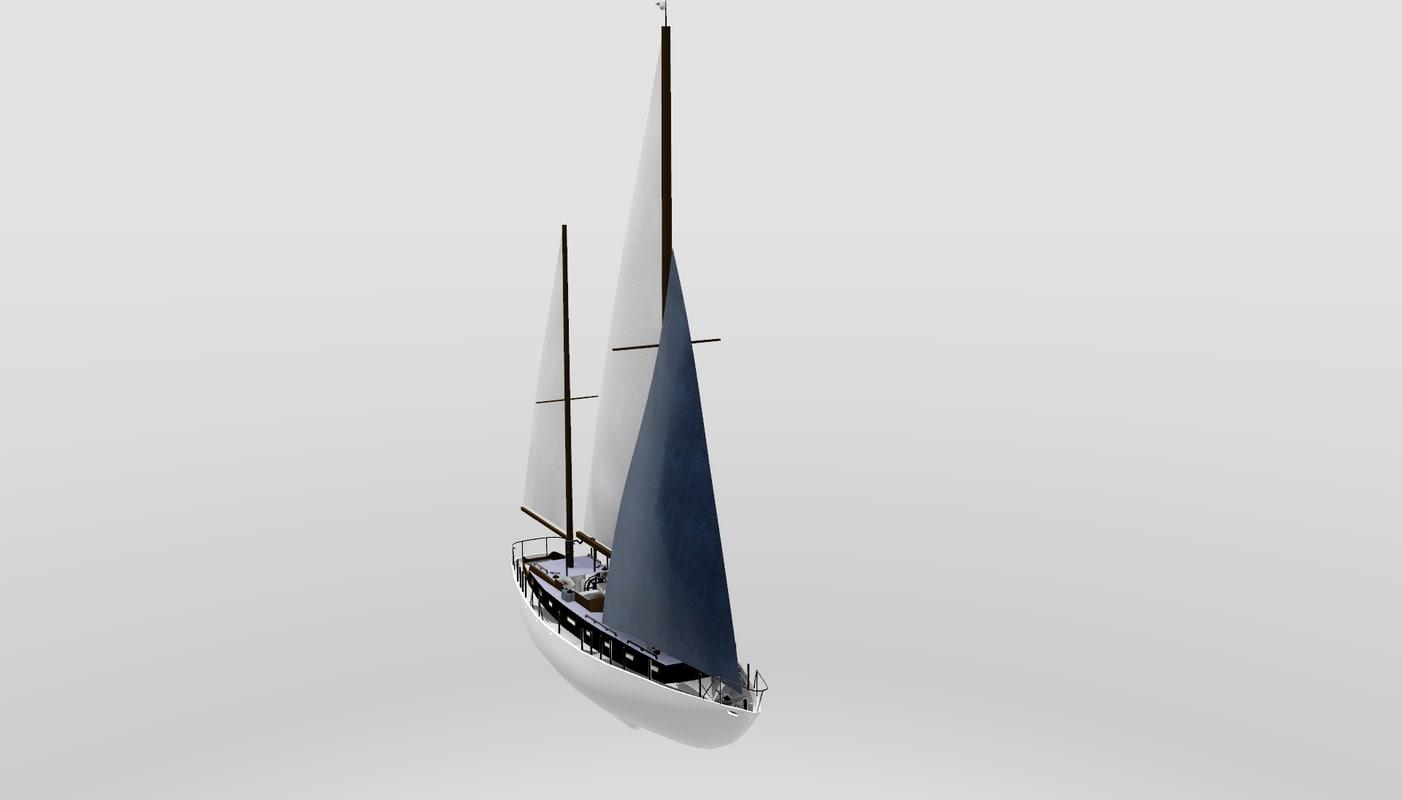 3d sailor boat
